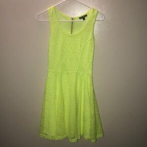 Electric, neon yellow Express dress